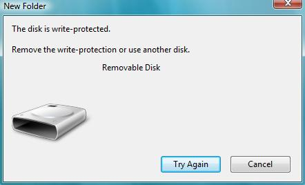 Write Protect Problem In Your Pen Drive