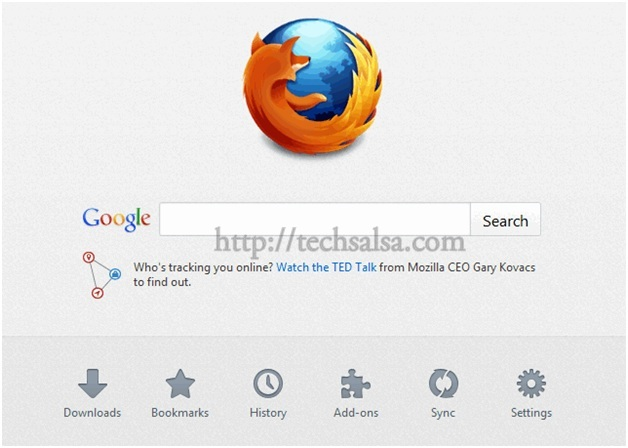 how to make a page a homepage on firefox